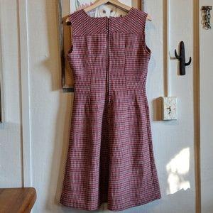 Vintage Dresses - Vintage 60's wool houndstooth dress
